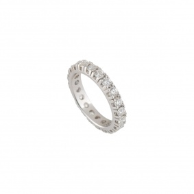 White Gold Full Diamond Ring 1.75ct G/VS